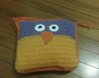 Owl two sided pillow
