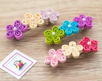 Paper quilling handmade hairpins - watermark paper hair pins
