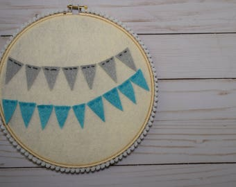 12in Banner embroidery hoop