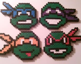 TMNT Perler beads DIY turtles kit; Buy 1 or all 4. Pegboard NOT included.  Over 200 beads each.
