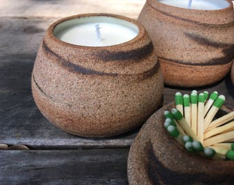 Hand-thrown Stoneware Soy Candle