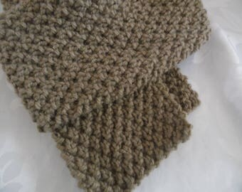 Scarf in dark Beige unisex costume