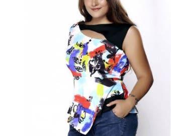 Asimetric Top Plus Size