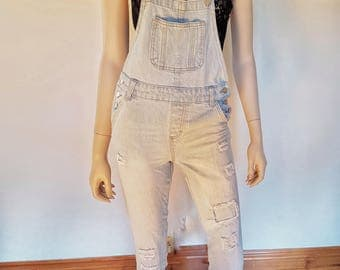 denim overalls/jumpsuit