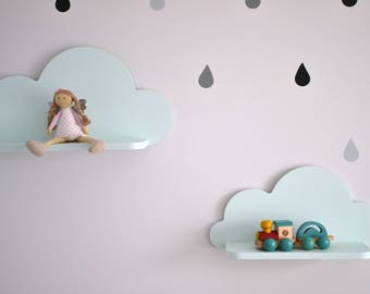 Set of 2 Cloud Shelf, Nursery Room Decor, Kids Room Decor, Nursery Wall Decor, Decorations for Bedroom