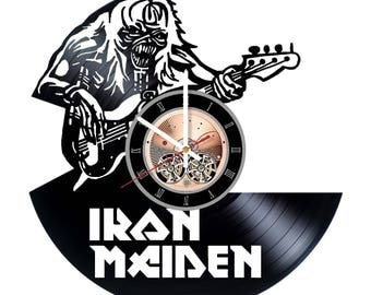 Iron Maden Vinyl Record Wall Clock gift idea wall art decor