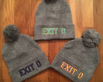 EXIT # BEANIES in favorite colors (Any color & style from any of my other listings available!!)
