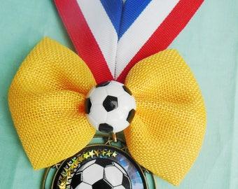 Soccer Burlap Bow