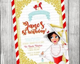 Mary Poppins/Carousel Invitation