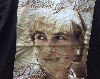 Rare Vintage 1997 Princess Diana Shirt /Size XL / Free shipping / Remember 1961-1997 Queen Diana Princess Of Wales Raptee style