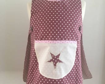 Girls 4t lined cotton apron