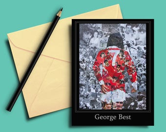 George Best Collage Greeting card