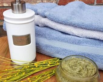 Exfoliating Anti-Aging Aloe Green Tea Face and Body Scrub - Rejuvenating, Skincare, Skin Smoothing, Skin Brightening, Face Wash, Body Wash