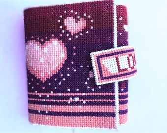 handmade cross-stitch wallet