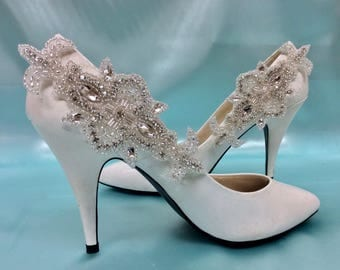 Wedding Shoe Clips, Bridal Shoe Clips, Wedding Bridal Shoes, Wedding Gown Accessory, Rhinestone Shoe Clips
