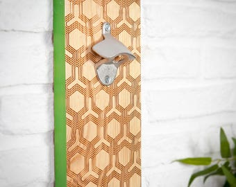 Patterned geometric bottle opener