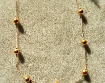 Vintage 16 inch copper chain with copper beads.