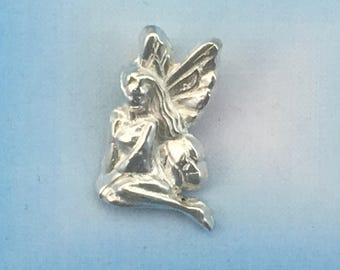 Fine Silver Faerie Pendant made from Precious Metal Clay