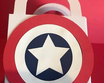 Capt. American Shield - Small Favor Bags