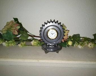 Motorcycle sprocket clock vintage Harley Davidson polished