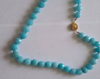 Aquamarine necklace with 14K gold filled findings