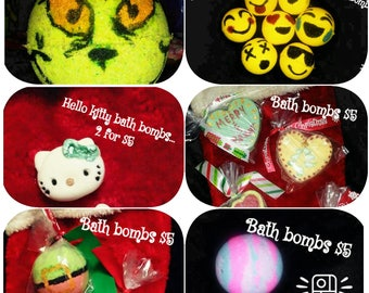 Homemade bath bombs- various scents