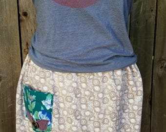 Handmade refashioned upcycled Plus Size Skirt 2x-5x