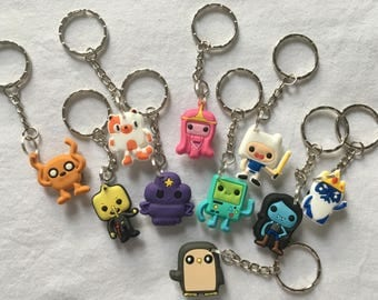 Adventure Time Keyrings/Keychains | cartoon cute emo kids goth fun jake finn minecraft japan kitsch 90s