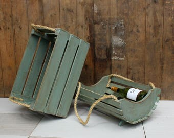 Purely Rustic Crate and Trug Pair