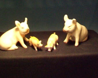 Goebel Pig Figurines And Babies