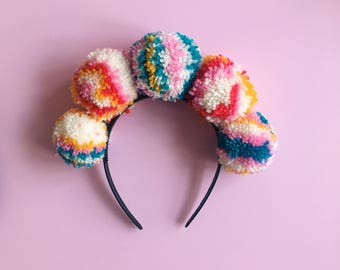 Colourful Custom Festival Pom Pom Headband