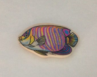 Vintage Tropical Fish Eraser 1980s 80s #2