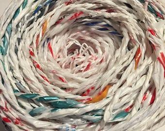 Yarn Made of Plastic Bags (Plarn)