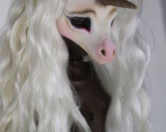 Popovy Unicorn Mask and Wool Fleece