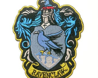 "FREE SHIPPING-Domestic-InspireMeByAudrey Harry Potter House of Ravenclaw Crest Embroidered Sew/Iron-on Patch/Applique 4.5"" x 3.75"