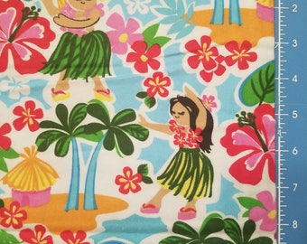 For Olga - 2.5 yards of Hula Girls Flannel