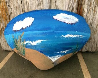 Ocean Clam Shell Painting
