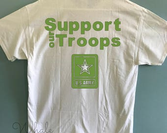Support our Troops Monogram Shirt