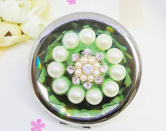 Bridesmaid gift, compact mirror, makeup mirror