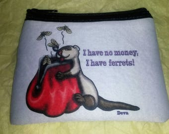 No Money Ferrets Coin Purse