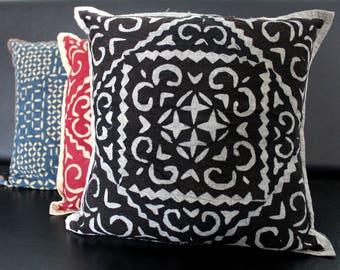 Handmade Cushion Cover - Applique work on Cushion Work , cotton cushion cover