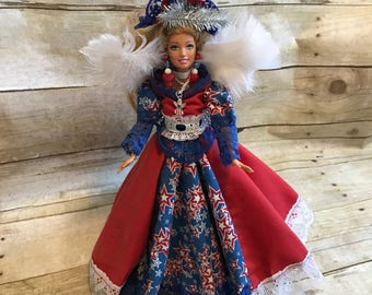 Leona doll - Fourth of July angel