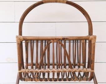 Rattan Magazine Rack/Basket