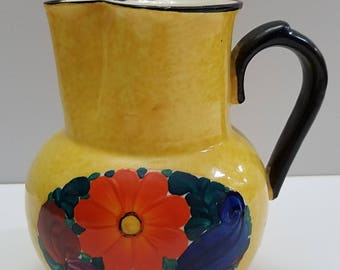 PIA Hand Painted Pitcher - Made in Czechoslovakia