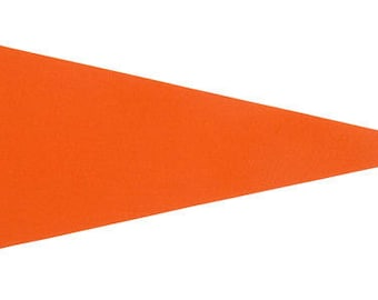 Solid 12 Orange Felt Blank Pennant Flag Assorted sizes and Prices   See Description