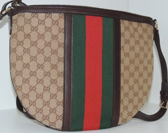 Gucci vintage bag messenger crobody web