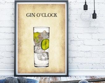 alcohol print, gin print, Kitchen print, Kitchen sign, bar art, bar print, funny alcohol print, funy alcohol sign, alcohol sign,