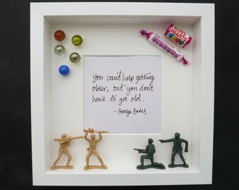 Box Framed Retro toys and sweets design
