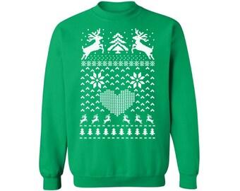 Christmas Deer Sweatshirt Ugly Christmas sweater Ugly Christmas sweater Christmas sweatshirt for men for women Funny Christmas Sweater Party