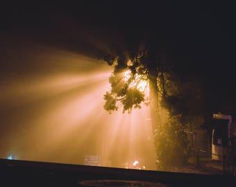 Foggy Night Print